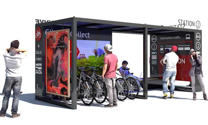 click and collect, recharge pour VAE et abri bus